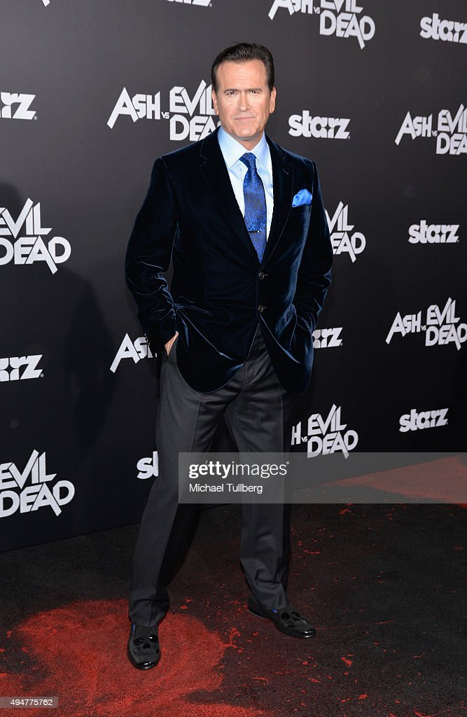Actor Bruce Campbell attends the premiere of STARZ's 'Ash vs Evil Dead' at TCL Chinese Theatre on October 28, 2015 in Hollywood, California.