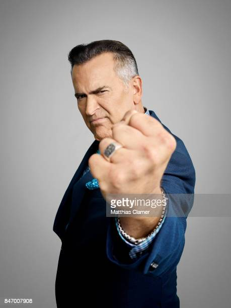 Actor Bruce Campbell from 'Ash vs Evil Dead' is photographed for Entertainment Weekly Magazine on July 22 2016 at Comic Con in the Hard Rock Hotel in...