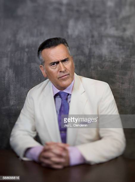 Actor Bruce Campbell of 'Ash vs Evil Dead' is photographed for Los Angeles Times at San Diego Comic Con on July 22 2016 in San Diego California