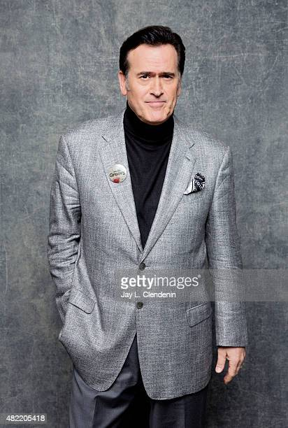 Actor Bruce Campbell of 'Ash vs Evil Dead' poses for a portrait at Comic-Con International 2015 for Los Angeles Times on July 9, 2015 in San Diego,...