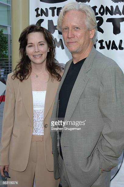 Actor Bruce Davidson and his guest Michelle Correy attend the Los Angeles Premiere Of The Thing About My Folks at The ArcLight on September 7 2005 in...