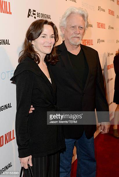 Actor Bruce Davison and Michele Correy attend AE's Bates Motel and Those Who Kill Premiere Party at Warwick on February 26 2014 in Hollywood...