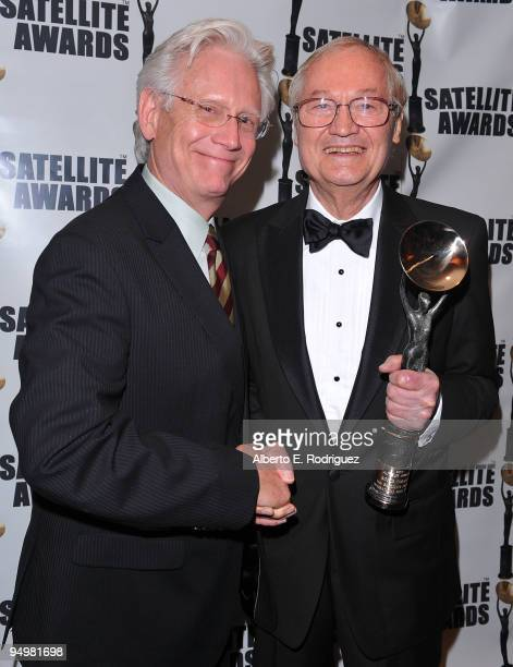 Actor Bruce Davison and producer Roger Corman attend the International Press Academy's 14th Annual Satellite Awards on December 20 2009 in Los...