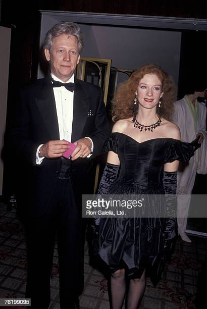 Actor Bruce Davison and wife Lisa Pelikan attending Fashion Industry of California Gala on February 13 1991 at the Cenury Plaza Hotel in Century City...