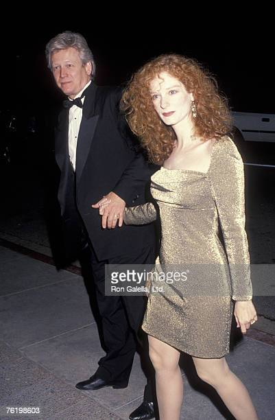Actor Bruce Davison and wife Lisa Pelikan attending PreOscar Party on March 27 1992 at L'Orangerie Restaurant in West Hollywood California