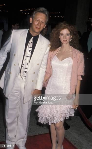 Actor Bruce Davison and wife Lisa Pelikan attending the premiere of Longtime Companion on May 14 1990 at the Cineplex Odeon Cinema in Century City...