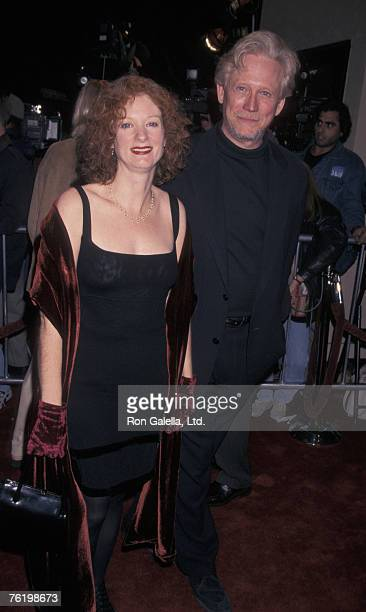 Actor Bruce Davison and wife Lisa Pelikan attending the premiere of At First Sight on January 12 1999 at Mann Bruin Theater in Westwood California