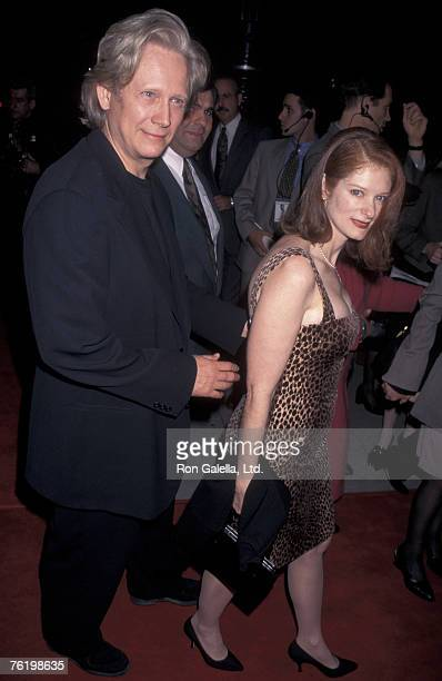 """Actor Bruce Davison and wife Lisa Pelikan attending the world premiere of """"The Crucible"""" on November 20, 1996 at the Academy Theater in Beverly..."""