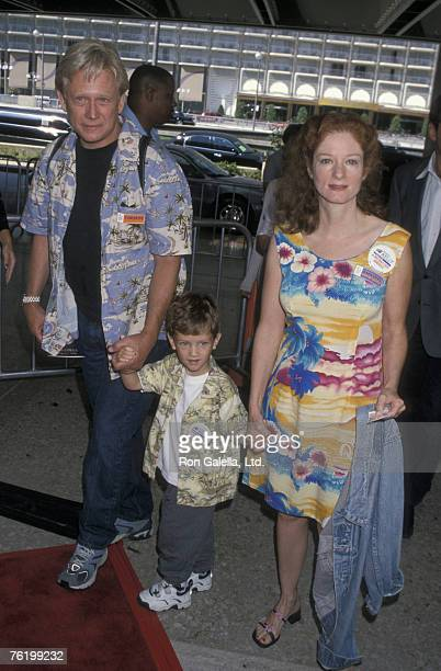 Actor Bruce Davison son Zachary Davison and wife Lisa Palikan attending premiere of 'Thomas the Magic Railroad' on July 22 2000 at the Cineplex Odeon...