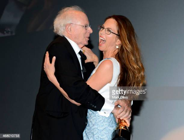 Actor Bruce Dern and Actress Diane Lane attend the Modern Master Award to Bruce Dern at the 29th Santa Barbara International Film Festival at the...