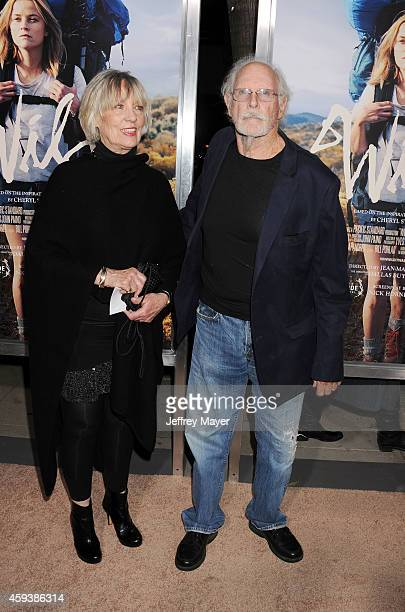 Actor Bruce Dern and wife Andrea Beckett arrive at the Los Angeles premiere of 'Wild' at AMPAS Samuel Goldwyn Theater on November 19 2014 in Beverly...