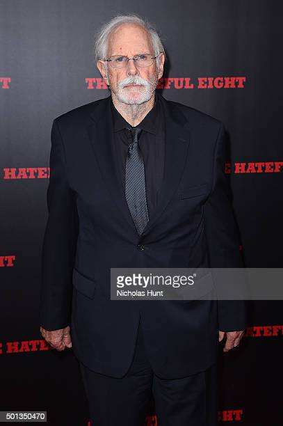 Actor Bruce Dern attends the New York premiere of 'The Hateful Eight' on December 14 2015 in New York City