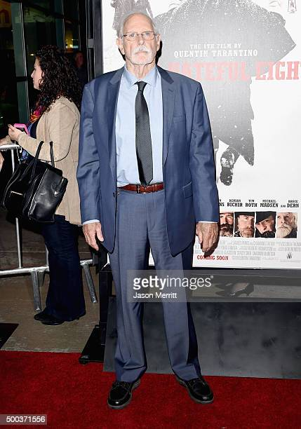 Actor Bruce Dern attends the Premiere of The Weinstein Company's The Hateful Eight at ArcLight Cinemas Cinerama Dome on December 7 2015 in Hollywood...