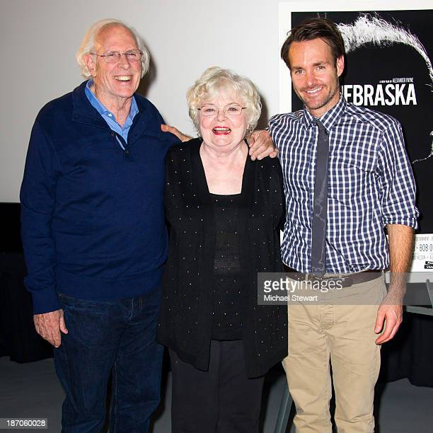Actor Bruce Dern June Squibb and Will Forte attend the New York Film Critics Series Screening of Nebraska at AMC Empire 25 theater on November 5 2013...