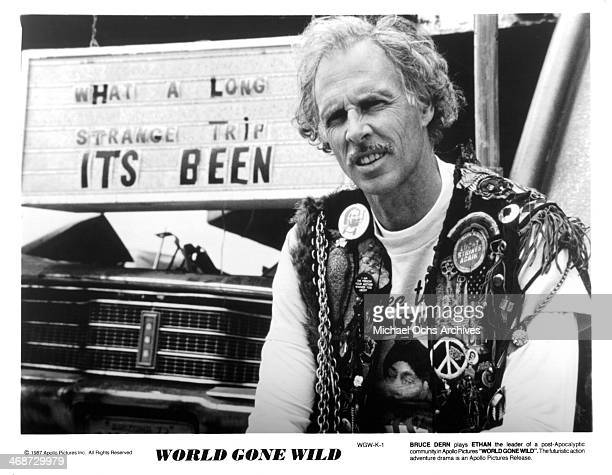 Actor Bruce Dern on set of the movie World Gone Wild circa 1988