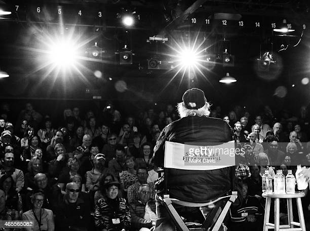 Actor Bruce Dern speaks to the audience at the 4th Annual Sun Valley Film Festival 'Coffee Talk With Bruce Dern' on March 7 2015 in Sun Valley Idaho
