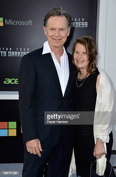 Actor Bruce Greenwood and Susan Devlin arrive at the premiere of Paramount Pictures' Star Trek Into Darkness at Dolby Theatre on May 14 2013 in...