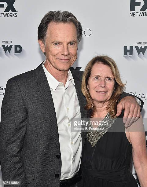 Actor Bruce Greenwood and Susan Devlin attends the Vanity and FX Annual Primetime Emmy Nominations Party at Craft Restaurant on September 17, 2016 in...
