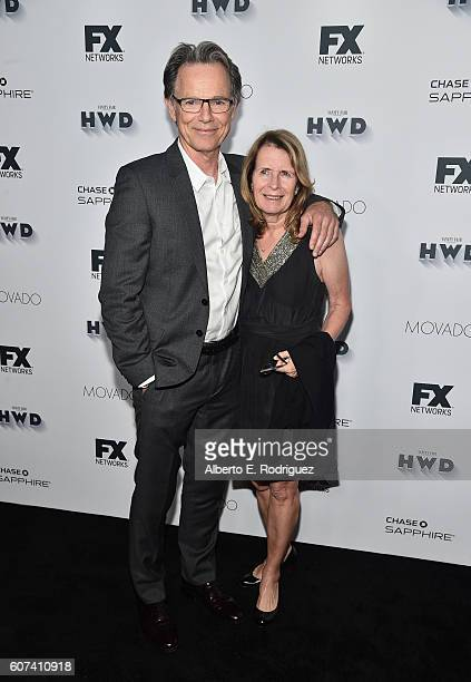 Actor Bruce Greenwood and Susan Devlin attends the Vanity and FX Annual Primetime Emmy Nominations Party at Craft Restaurant on September 17 2016 in...