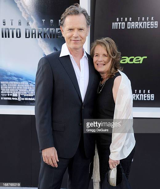 Actor Bruce Greenwood and wife Susan Devlin arrive at the Los Angeles premiere of Star Trek Into Darkness at Dolby Theatre on May 14 2013 in...