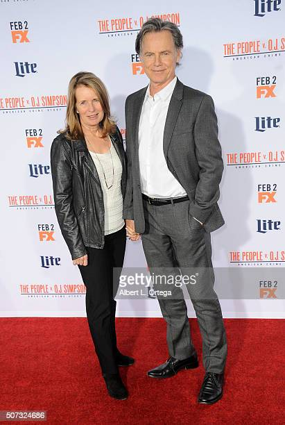 Actor Bruce Greenwood and wife Susan Devlin arrive for Premiere Of FX's American Crime Story The People V OJ Simpson held at Westwood Village Theatre...