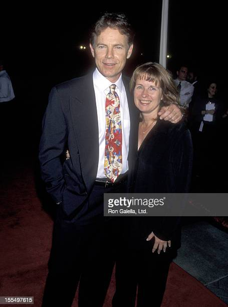 Actor Bruce Greenwood and wife Susan Devlin attend the Double Jeopardy Hollywood Premiere on September 21, 1999 at Paramount Theater in Hollywood,...