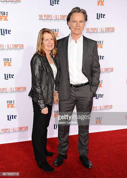 Actor Bruce Greenwood and wife Susan Devlin attend the premiere of American Crime Story The People V OJ Simpson at Westwood Village Theatre on...