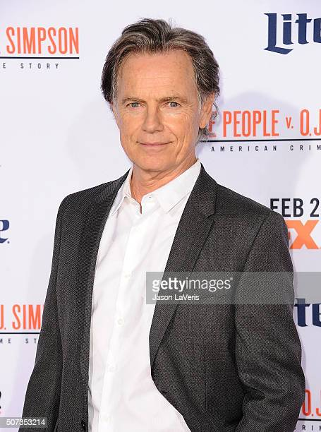 Actor Bruce Greenwood attends the premiere of 'American Crime Story The People V OJ Simpson' at Westwood Village Theatre on January 27 2016 in...