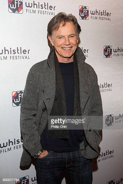 Actor Bruce Greenwood receives his Career Achievement Award at the World Premiere screening of 'Rehearsal' during the 2015 Annual Whistler Film...