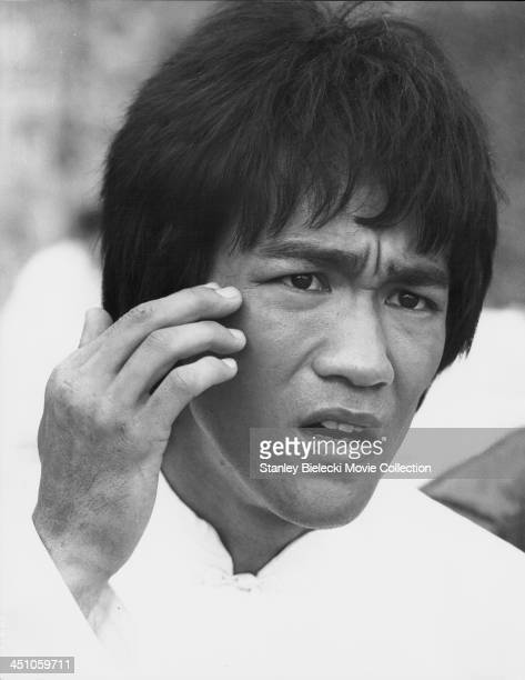Actor Bruce Lee in a scene from the movie 'Enter the Dragon' 1973
