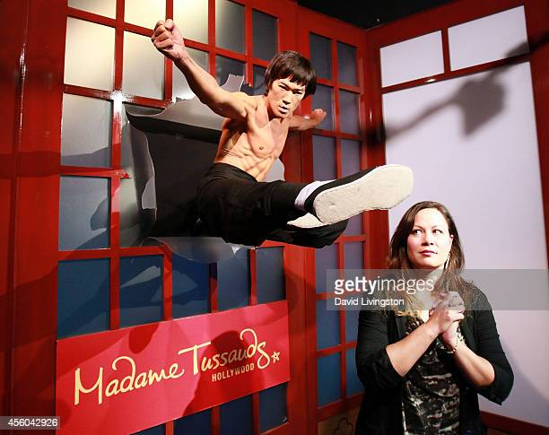 Actor Bruce Lee's daughter Shannon Lee attends the unveiling of a new Bruce Lee figure at Madame Tussauds Hollywood on September 24 2014 in Hollywood...