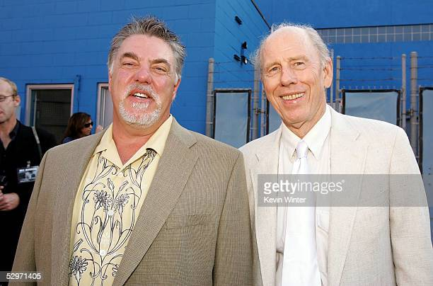 Actor Bruce McGill and Rance Howard arrive at the premiere of 'Cinderella Man' at Gibson Amphitheatre at Universal CityWalk on May 23 2005 in...