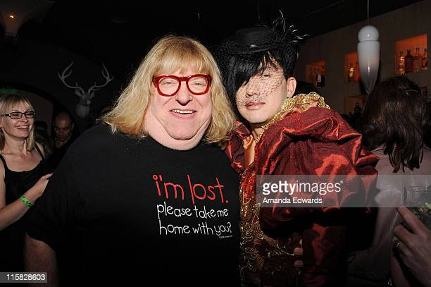 Actor Bruce Vilanch and designer Bobby Trendy attend the afterparty for 'Oy Vey My Son Is Gay' at Vermont on October 22 2009 in Los Angeles California
