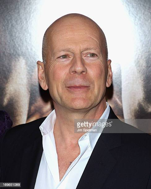 Actor Bruce Williis attends the 'After Earth' premiere at the Ziegfeld Theater on May 29 2013 in New York City