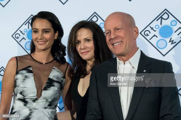 Actor Bruce Willis actress MaryLouise Parker and wife Emma Heming Willis attend the 2017 Room To Grow Spring Benefit at Guastavino's on April 5 2017...