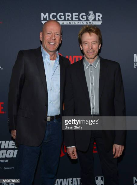 Actor Bruce Willis and Film Producer Jerry Bruckheimer attend the Showtime WME IME and Mayweather Promotions VIP PreFight party for Mayweather vs...