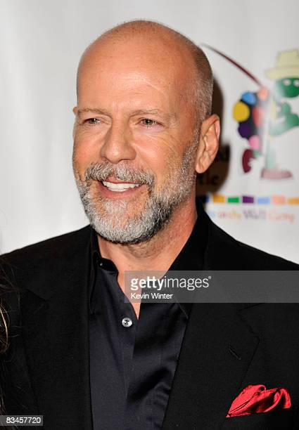 Actor Bruce Willis arrives at the reading of The World Of Nick Adams to honor Paul Newman held at Davies Symphony Hall on October 27 2008 in San...