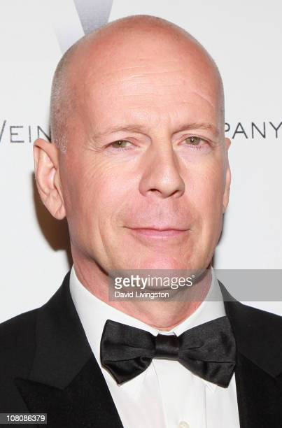 Actor Bruce Willis arrives at The Weinstein Company And Relativity Media's 2011 Golden Globe Awards Party held at The Beverly Hilton hotel on January...