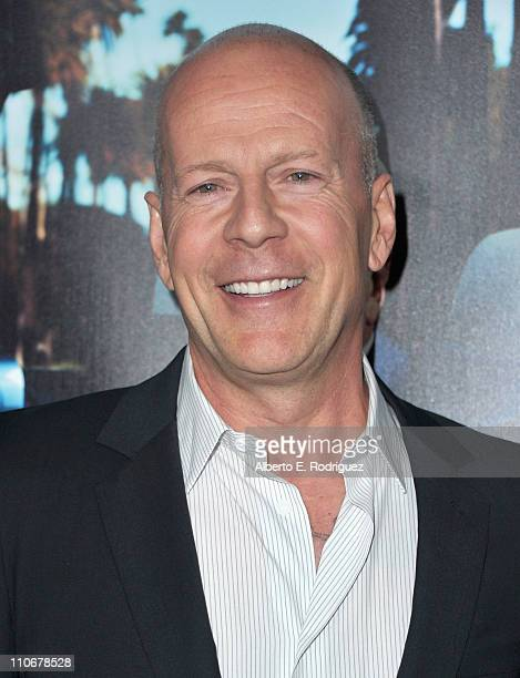 Actor Bruce Willis arrives to the premiere of the HBO documentary 'His Way' on March 22 2011 in Hollywood California