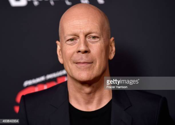 Actor Bruce Willis attends Premiere of Dimension Films' 'Sin City A Dame To Kill For' at TCL Chinese Theatre on August 19 2014 in Hollywood California
