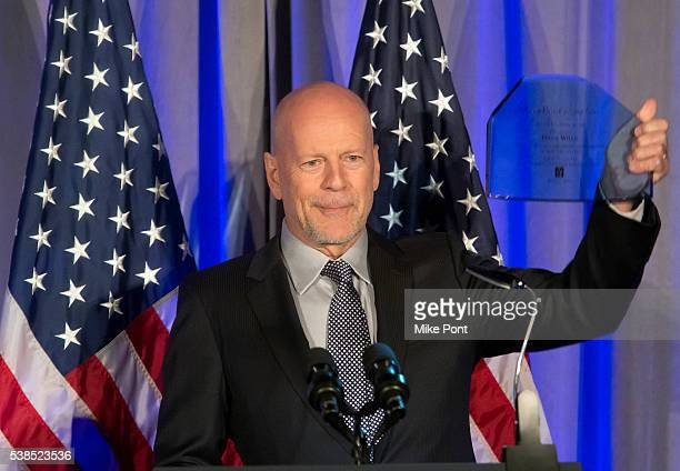 Actor Bruce Willis attends the 10th Annual American Institute For Stuttering Freeing Voices Changing Lives Gala at The Lighthouse at Chelsea Piers on...