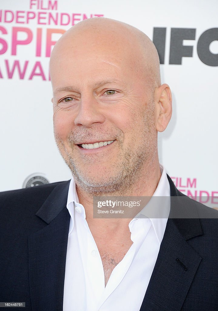 Actor Bruce Willis attends the 2013 Film Independent Spirit Awards at Santa Monica Beach on February 23, 2013 in Santa Monica, California.