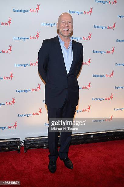 Actor Bruce Willis attends the 8th Annual Exploring the Arts Gala at Cipriani 42nd Street on September 29 2014 in New York City
