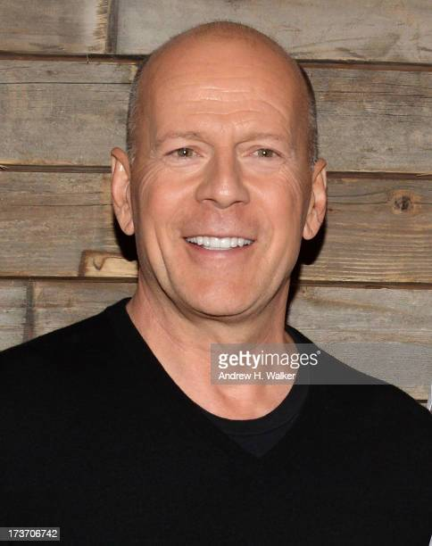 Actor Bruce Willis attends The Cinema Society and Bally screening of Summit Entertainment's Red 2 after party at Refinery Hotel on July 16 2013 in...