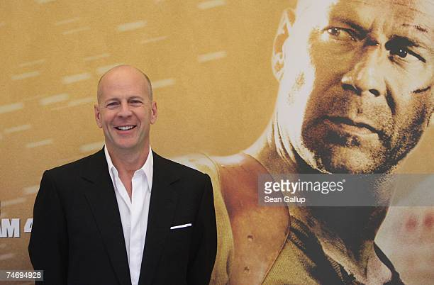 Actor Bruce Willis attends the German photocall to Die Hard 40 June 18 2007 in Berlin Germany