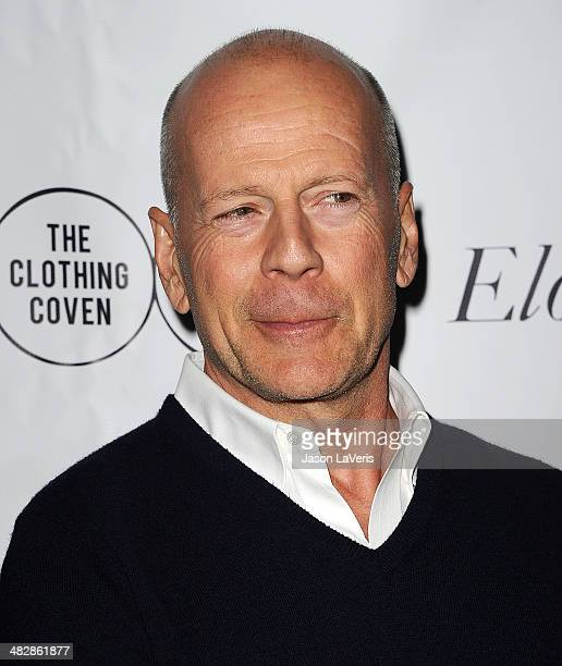 Actor Bruce Willis attends the launch of 'The Clothing Coven' at Elodie K on April 4 2014 in West Hollywood California