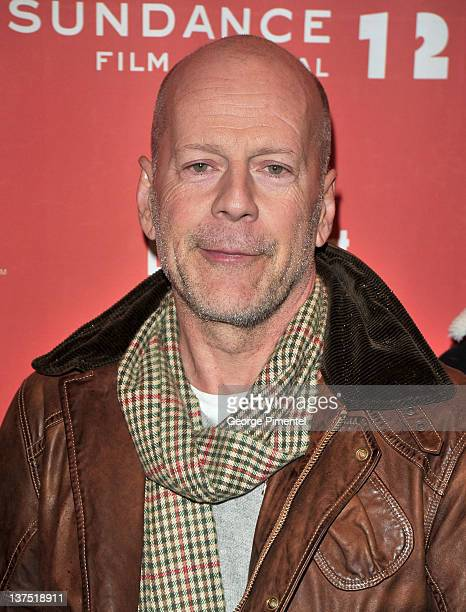 Actor Bruce Willis attends the 'Lay the Favorite' premiere during the 2012 Sundance Film Festival held at Eccles Center Theatre on January 21 2012 in...