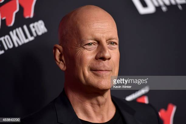 Actor Bruce Willis attends the premiere of Dimension Films' 'Sin City A Dame To Kill For' at TCL Chinese Theatre on August 19 2014 in Hollywood...