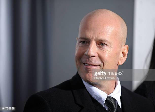 Actor Bruce Willis attends the premiere of Sherlock Holmes at the Alice Tully Hall Lincoln Center on December 17 2009 in New York City