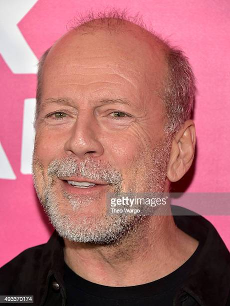 Actor Bruce Willis attends the 'Rock The Kasbah' New York Premiere at AMC Loews Lincoln Square 13 theater on October 19 2015 in New York City